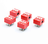 DIY 3 Pole 2 Position 6 Pin Dip Switch (5-Piece Pack)