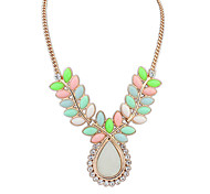 Women's Pendant Necklaces Resin Alloy Drop Bohemian Green Jewelry Wedding Party Daily Casual 1pc