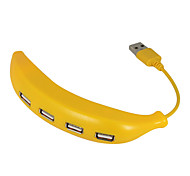 usb 2.0 4 portas / interface USB hub adorável frutas da banana 12 * 1 * 1