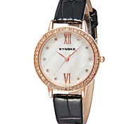 Women's Gold Case Leather Band Quartz Wrist Watch Cool Watches Unique Watches