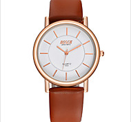 Lovers Fashion Slim Belt Waterproof Quartz Watch