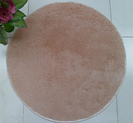 "Pure Colored Casual Style Polyester Fiber Material Non-Slip Thickened Circular Mat W23"" x L23"""