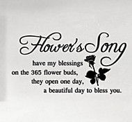 Flower'S Song Wall Sticker English Quote Wall Decals Vinyl Wall Decal Living Room Decor Home Decoration
