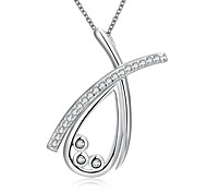 Daniel Wellington 925 sterling silver Hollow Water Drop with Zircon multi medal pendant cremation jewelry