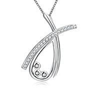 Женский Ожерелья-бархатки Ожерелья с подвесками Заявление ожерелья Стерлинговое серебро Свисающие Мода Белый БижутерияСвадьба Для