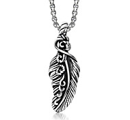 Personality Fashion Feathered Wings Titanium Steel Pendants Chains (Excluding)