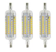 5W R7S LED a pannocchia T 60 SMD 2835 800 lm Bianco caldo / Luce fredda Decorativo / Impermeabile AC 220-240 V 3 pezzi