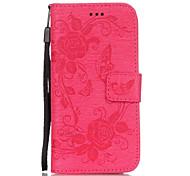 Per Custodia iPhone 6 / Custodia iPhone 6 Plus A portafoglio / Con supporto / Con chiusura magnetica / Decorazioni in rilievo Custodia