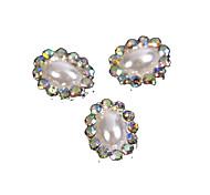 10шт Винтажный дизайн овальной жемчужные бусы с АБ стразами 3d сплава украшения искусства ногтя