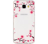 TPU High Purity Translucent Openwork Plum Flower Pattern Soft Phone Case for Galaxy A310/A510