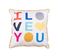 Polyester Pillow With Insert,Quotes & Sayings Casual 18x18 inch