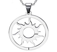 Men's Fashion Sun Style Steel Pendant for Necklace