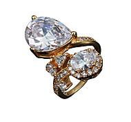 Christmas Gift lady durable wedding Statement Ring