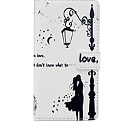 Lovers Pattern PU Leather Material Phone Case for Huawei Ascend P9 Lite/ P9