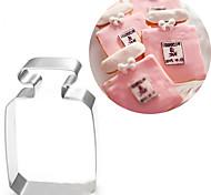 Духи бутылки формы печенья резак бисквит формы из нержавеющей стали помадные торты украшения инструменты