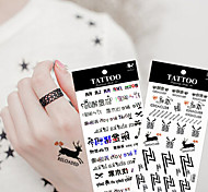 10Pcs/Lot  New High Quality Cartoon  Waterproof Temporary  Tattoo Sticker Body Art Sexy Makeup