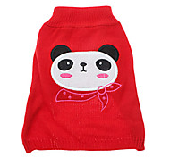 Dog Sweater Red Winter Animal