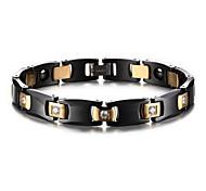 Magnetic Therapy Bracelet Men's Jewelry Luxury Hematite Black Ceramic Bracelet