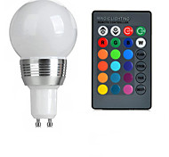 GU10 85V-265V 100-200Lm 3W RGB Remote Control LED Colorful Bulbs