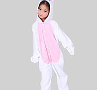 Kigurumi Pijamas Unicórnio Malha Collant/Pijama Macacão Festival/Celebração Pijamas Animal Rosa Miscelânea Flanela Kigurumi Para Criança