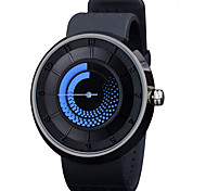 Men's Women's Unisex Fashion Watch Casual Watch LED Quartz Silicone Band Black