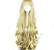 жен. Блондинка Волосы Искусственные волосы Машинное плетение Парики для косплей