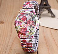 Women's European Style Fashion Printing Stretch Wrist Watches