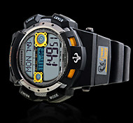 PASNEW Men's Round Dial Casual Watch PU  Strap Digital  Watch 100m Water Resistance Watch (Assorted Colors) Cool Watch Unique Watch