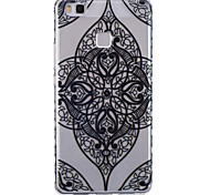 Flower Corners Pattern PU Material Phone Case for Huawei P9 Lite/P9