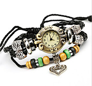 Ladies' Alloy Leather Handcrafted Vintage Bracelet Table