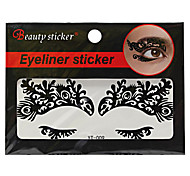 Abstract Fashion Lace Hollow Black Face Sticker YT-009