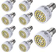 3W E14 Focos LED T 24 SMD 2835 300 lm Blanco Cálido / Blanco Fresco Decorativa AC 100-240 V 10 piezas