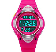 SKMEI Kids' Sport Watch Digital Watch LCD Calendar Chronograph Water Resistant / Water Proof Alarm Luminous Stopwatch Digital Rubber Band