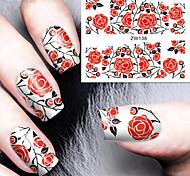 Fashion Printing Pattern Water Transfer Printing Rose Nail Stickers