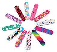 10pcs New Professional Mini Nail File Colorful Double Side Nail Buffer Sanding Polish Nail Art Tools