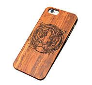 caso ultra sottile di tigre di legno protettiva copertura posteriore dura iphone PC per il iPhone SE / 5s iphone / iphone 5