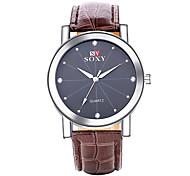 2016 SOXY Men's Watch Quartz Analog Water Resistant Diamante Alloy Leather Fashion Watch(Assorted Color) Cool Watch Unique Watch
