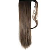lunghezza parrucca marrone coda di cavallo 60 centimetri filo ad alta temperatura dritto sintetico di colore 2/30