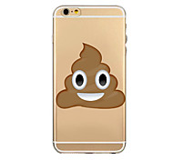 Cartoon Face Expression Transparent Soft TPU Back Case for iPhone 6/iphone6 plus