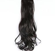 черный длина 50 см новый тип пояса длинные вьющиеся парик хвощ волосы поддельные конский хвост (цвет 99j)
