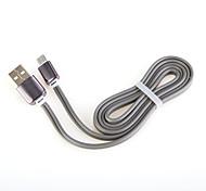 USB cable de aluminio cable del cargador de carga rápida 2.0 de General Cable teléfono inteligente Android de Samsung (1,0 m)