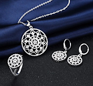 Silver Plated Jewelry Set 3 pcs Wedding / Party / Daily / Casual 3pcs