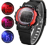 LED Watch Children Colorful Light Wristwatch Date Day Alarm Rubber Strap Fashion Watch