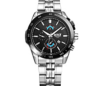 Men's Fashion Stainless Steel Calendar Quartz Watch