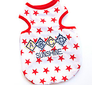 Dogs / Cats T-Shirt Summer Fashion Stars  Red / Blue