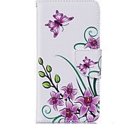 Pink Butterfly Pattern Card Phone Holster for Samsung Galaxy G530/J3/J5/J510