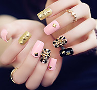 24PCS Fashion Punk Style Nail Tips