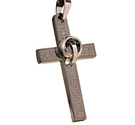 Punk With Cross Necklace, Men Collarbone Chain -The Cross Ring Scripture