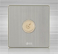 Boutique 86 Silver Dimmer Switch Light Point Switch with LED Light Brushed Stainless Steel Wall Switch Panel