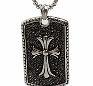 The Cross Necklace Pendant Drop Titanium Steel (Excluding Chain)